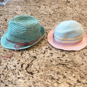 Two toddler OS girls hats NWOT